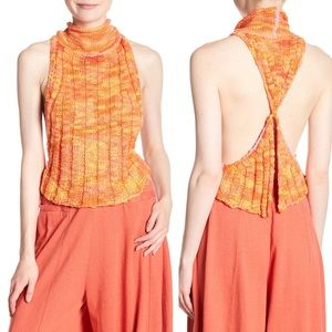 NWT Free People Laguna Tank in Clementine Large